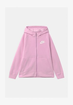 FULL ZIP - Mikina na zip - light arctic pink/white