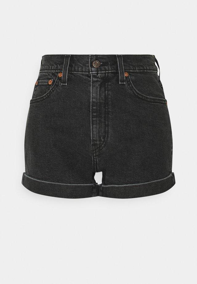 MOM A LINE  - Szorty jeansowe - black denim