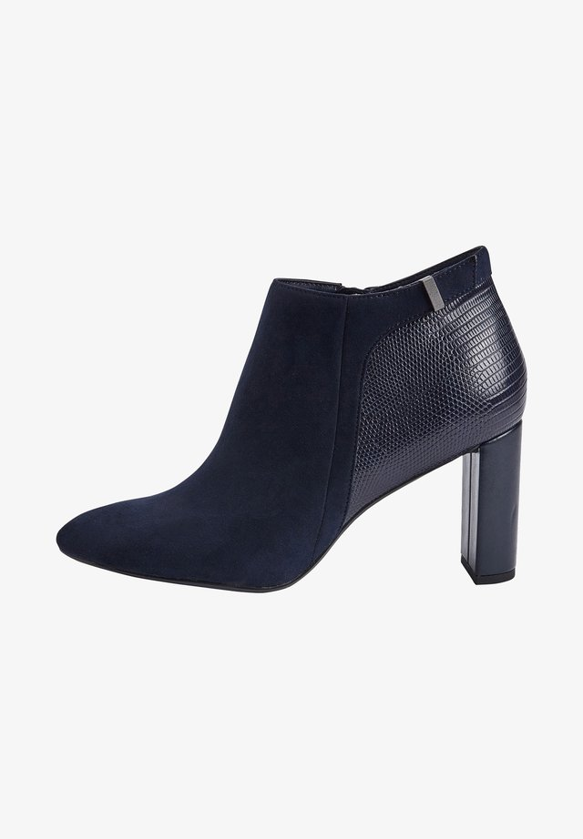 High heeled ankle boots - blue