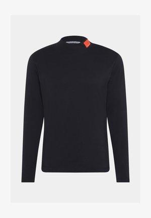 SMALL BADGE MOCK NECK - Long sleeved top - black