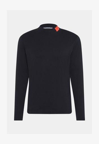SMALL BADGE MOCK NECK - Maglietta a manica lunga - black