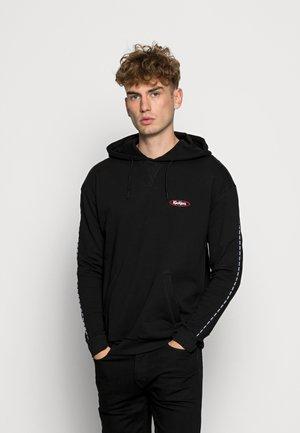 BLACK HOOD WITH LOGO PIPING - Sweatshirt - black