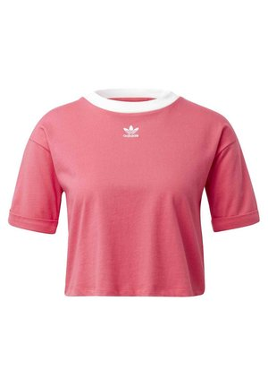CROP TOP - Basic T-shirt - pink