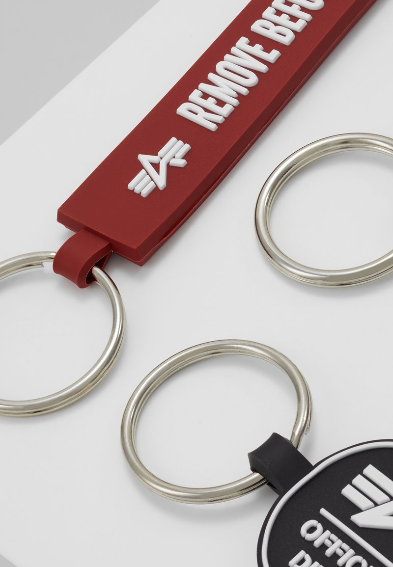 Alpha Industries - KEYCHAIN PACKAGE SET - Keyring - black