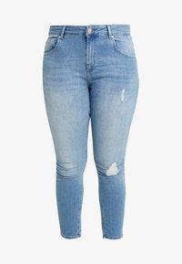 ONLY Carmakoma - CARWILLY - Jeans Skinny Fit - light blue denim - 4