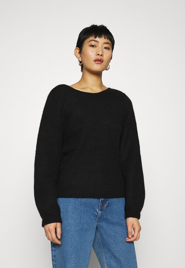 Crew Neck Jumper - Jersey de punto - black