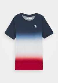 Abercrombie & Fitch - DYE EFFECTS - Print T-shirt - navy/white/red - 0