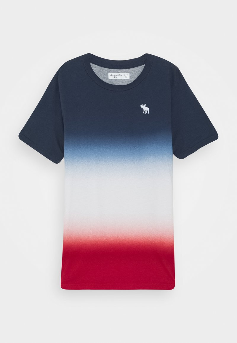 Abercrombie & Fitch - DYE EFFECTS - Print T-shirt - navy/white/red