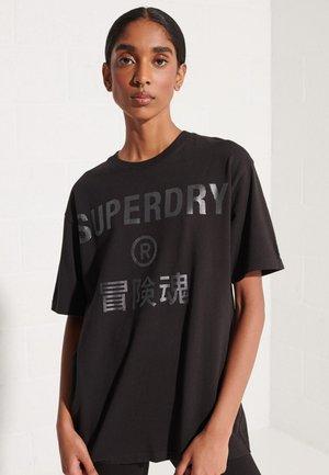 CORPORATE LOGO FOIL - Print T-shirt - black 2
