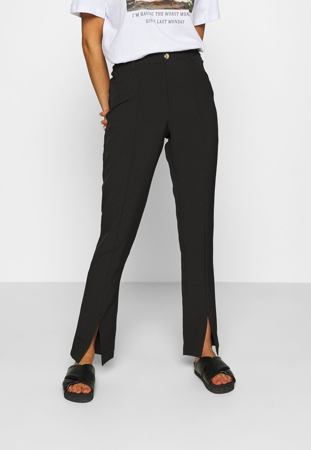 LUNI DRESSED PANT - Bukse - black