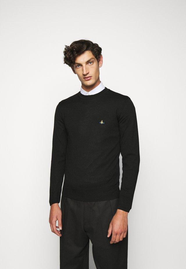 CLASSIC ROUND NECK - Jersey de punto - black