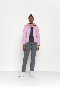 CMP - WOMAN FIX HOOD JACKET - Fleece jacket - purple fluo/bianco - 1