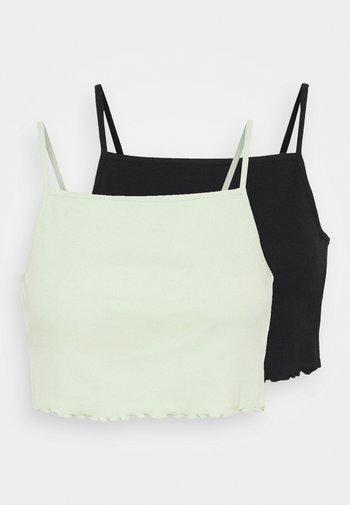 2 PACK - Top - black/green