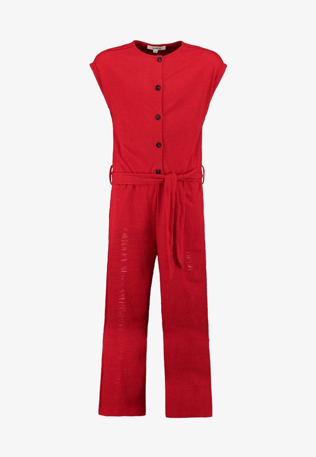 Jumpsuit - red/light red