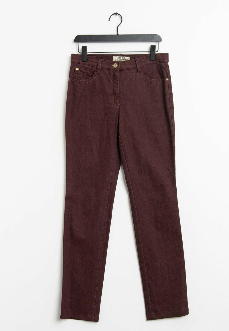 BRAX - Straight leg jeans - red