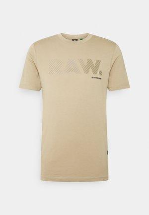 3D RAW LOGO SLIM  - T-shirt imprimé - rock