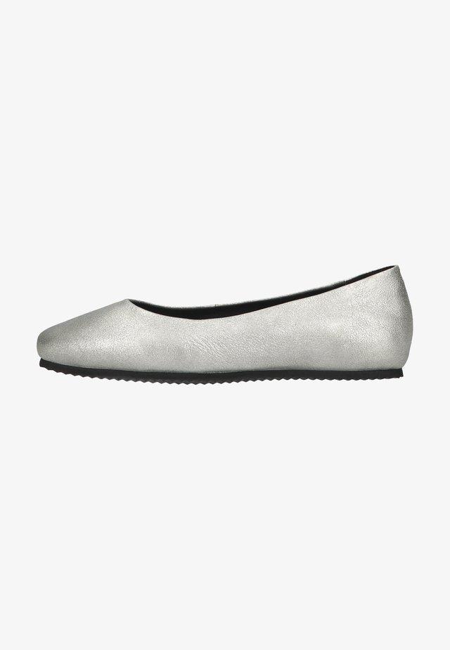 Ballet pumps - platino silver
