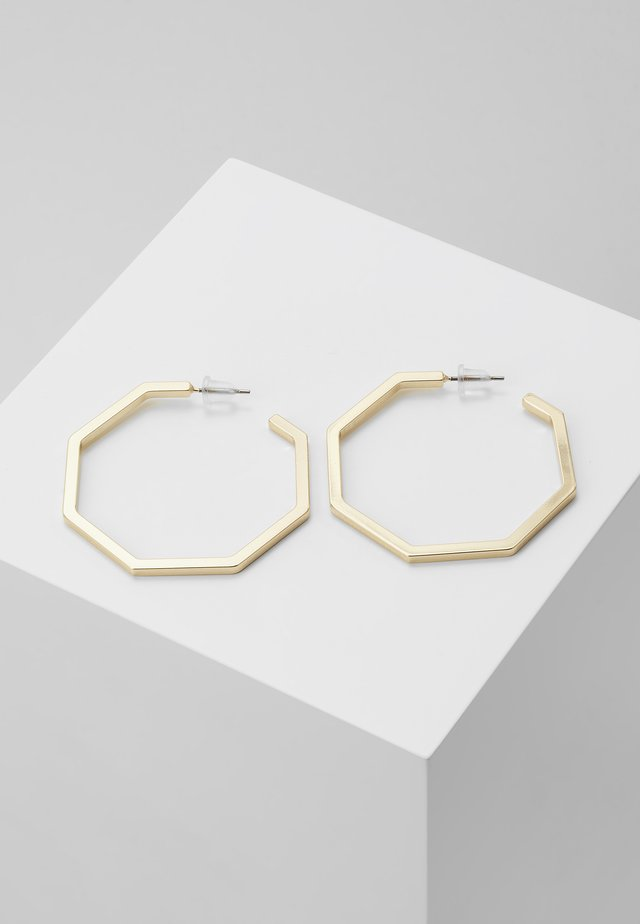 PAUS BIG OVAL EAR PLAIN  - Earrings - gold