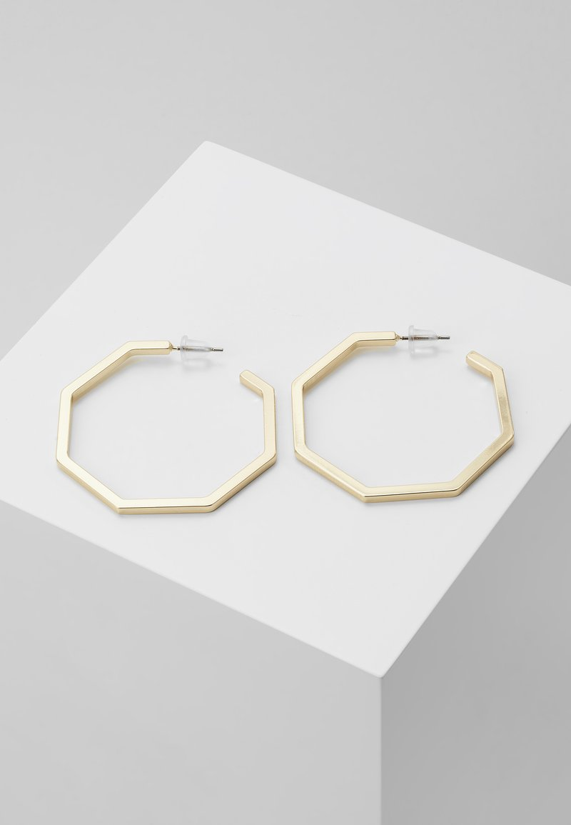 SNÖ of Sweden - PAUS BIG OVAL EAR PLAIN  - Earrings - gold
