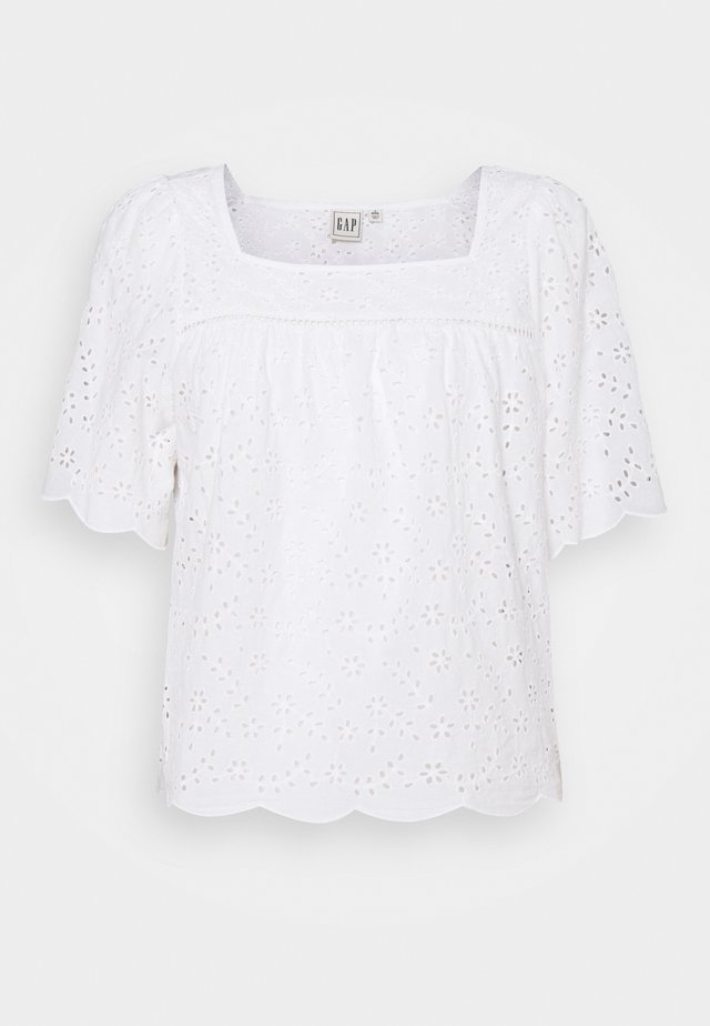 EYELET SCALLOP  - Blouse - fresh white