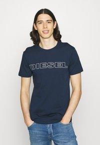 Diesel - 2 PACK - Print T-shirt - blue/black - 3