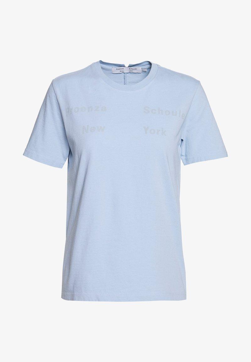 Proenza Schouler - SHORT SLEEVE - T-shirt z nadrukiem - dusty blue/light blue