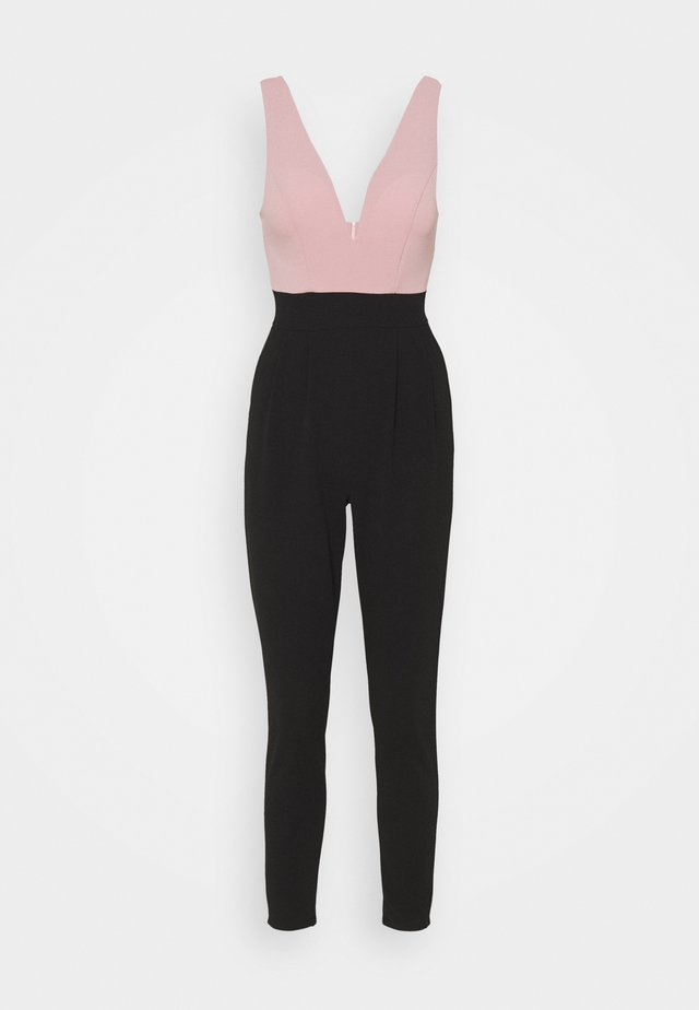 Jumpsuit - black/pink