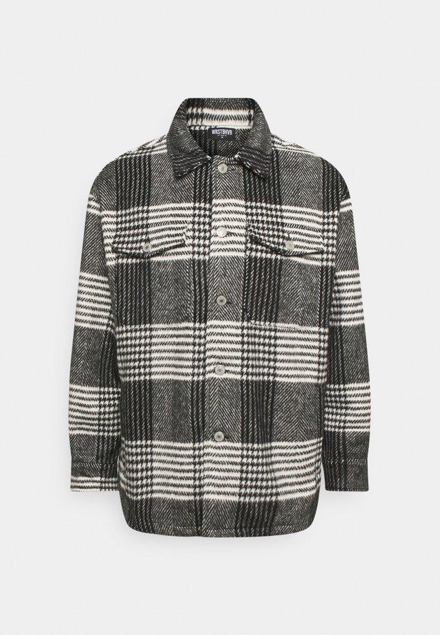 HOLDEN OVERSHIRT CHECKED UNISEX - Shirt - black