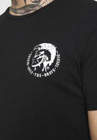 Diesel - UMTEE RANDAL 3 PACK - T-shirt basic - black/pink/grey melange - 6