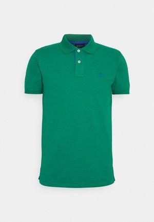 CONTRAST COLLAR RUGGER - Polo shirt - lush green