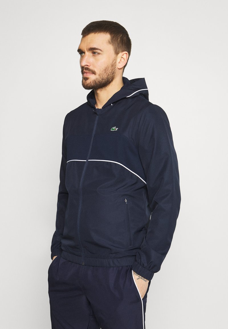 Lacoste Sport - TRACK SUIT SET - Trainingsvest - navy blue/white