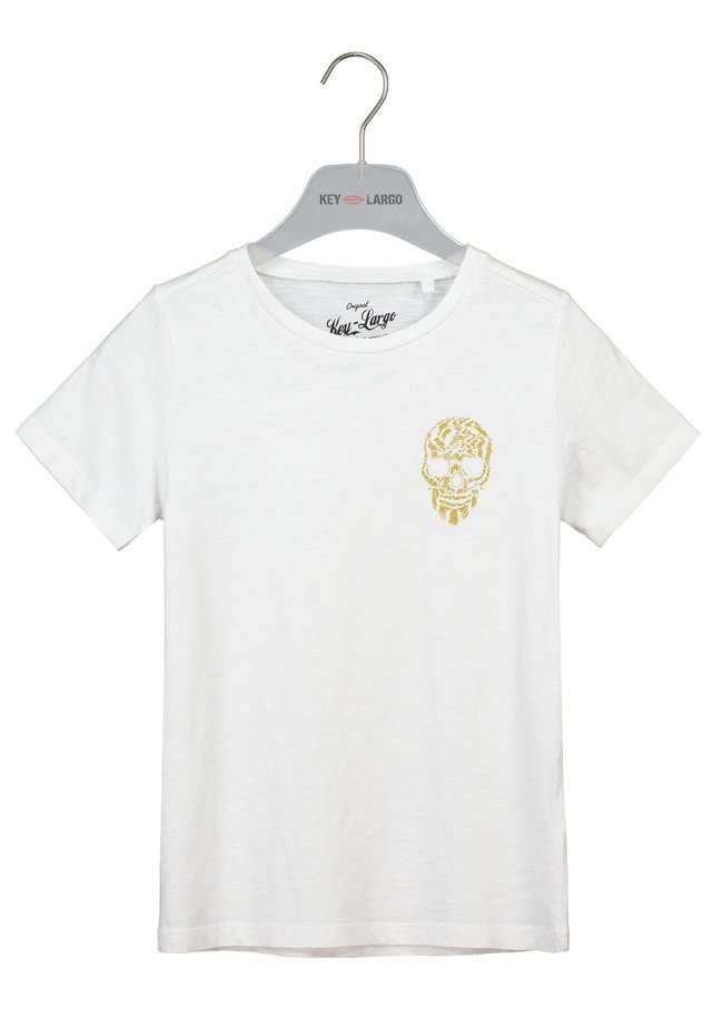 BRONCO  - Print T-shirt - white