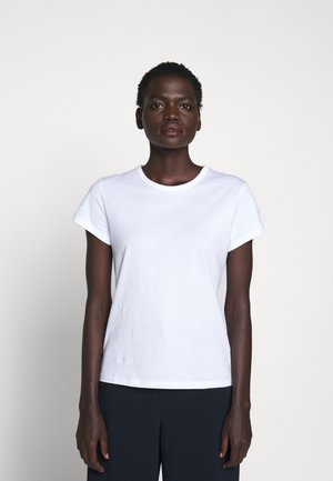 FLARED CAP SLEEVE - Basic T-shirt - white