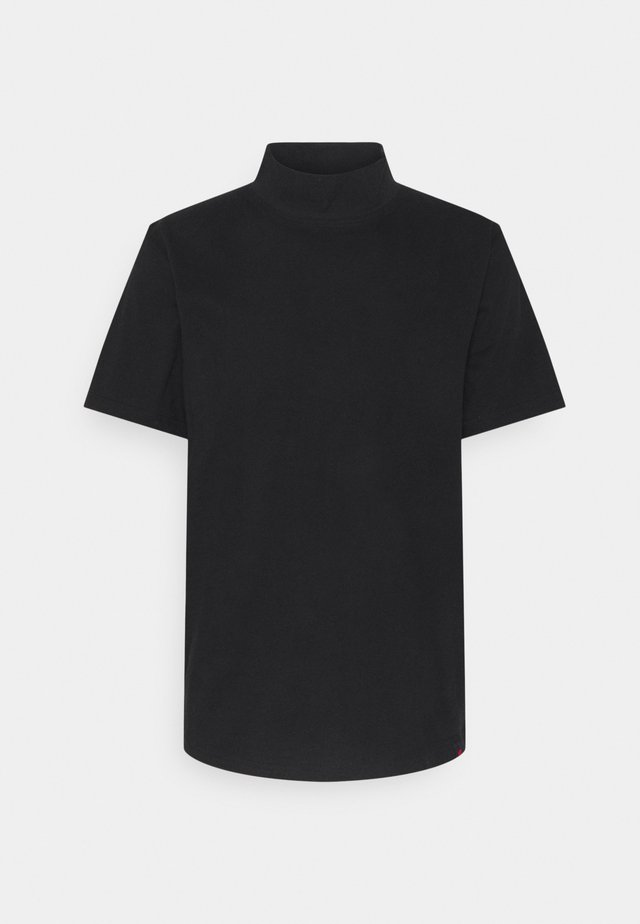 HAKA HIGH NECK TEE - T-shirt basic - black