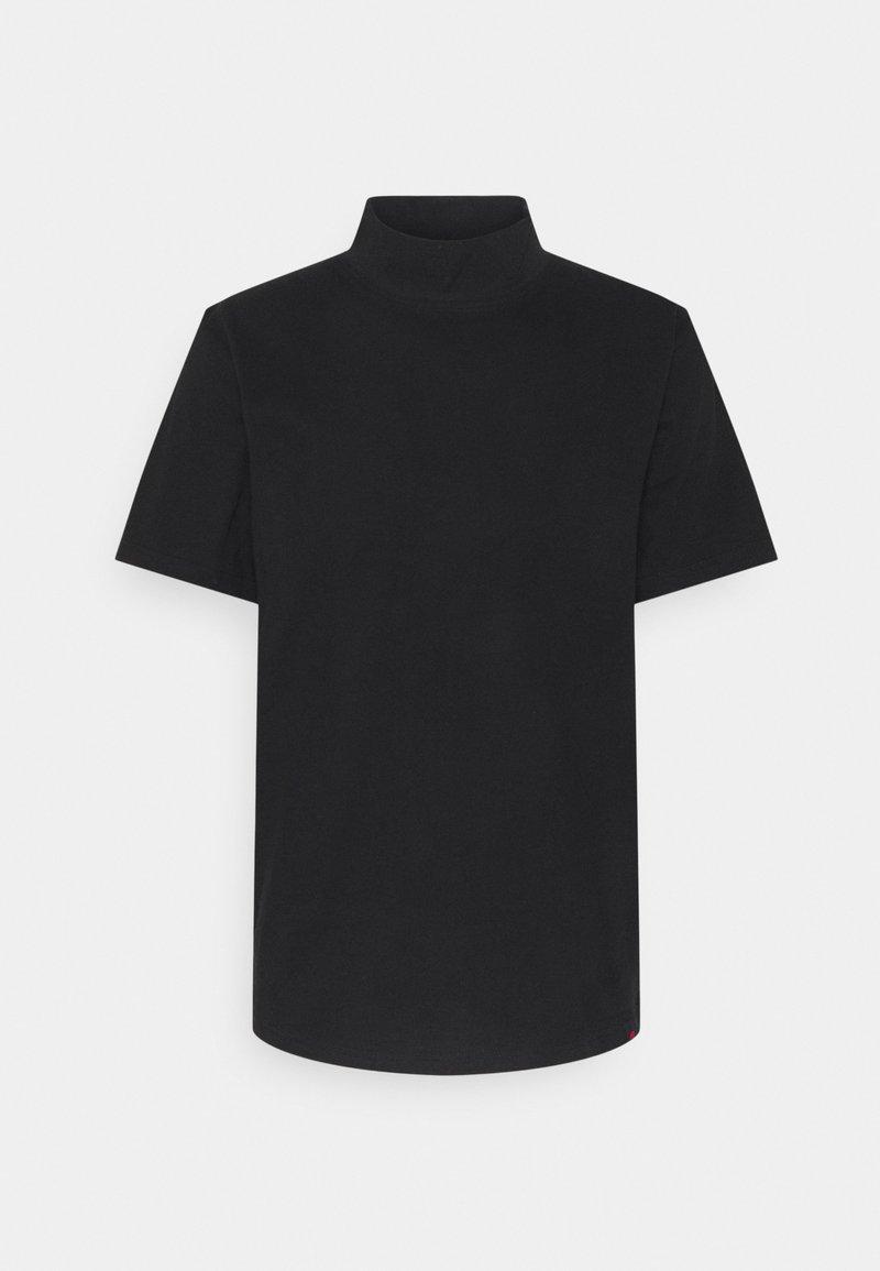 Denim Project - HAKA HIGH NECK TEE - Jednoduché triko - black