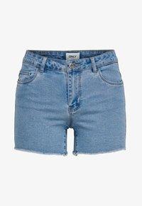 ONLY - AMAZE REG - Szorty jeansowe - light blue denim - 4