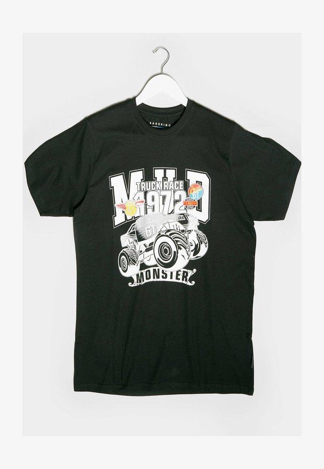 MONSTER TRUCK GRAPHIC - Print T-shirt - black