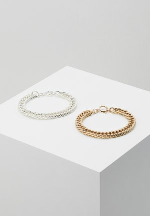 COIN BRACELET 2 PACK - Náramek - silver-coloured/gold-coloured