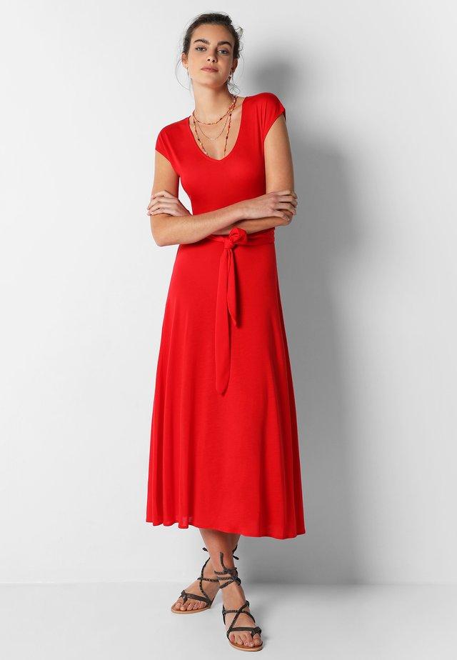 Jerseyklänning - red