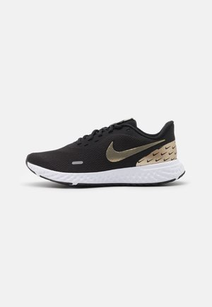 REVOLUTION 5 PRM - Neutral running shoes - black/metallic gold grain