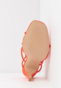 Public Desire - SAVY - Sandály na vysokém podpatku - orange - 6