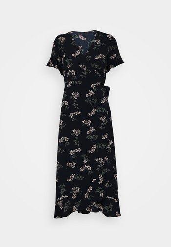 VMSAGA WRAP FRILL ANKLE DRESS - Day dress - navy blazer
