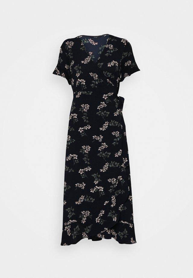 VMSAGA WRAP FRILL ANKLE DRESS - Kjole - navy blazer