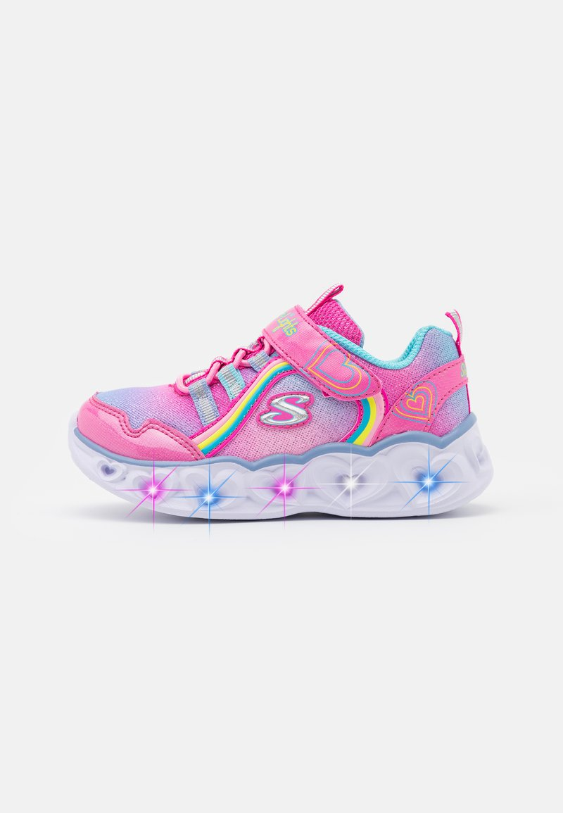 Skechers - HEART LIGHTS - Trainers - pink/multicolor
