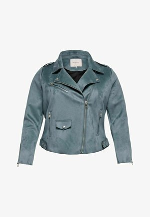 CARSHERRY BONDED - Faux leather jacket - blue mirage