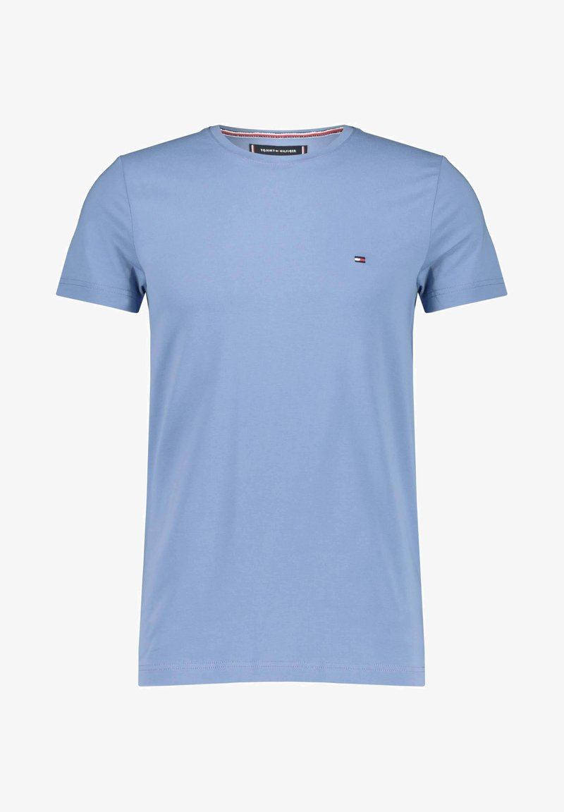 Tommy Hilfiger - STRETCH TEE - T-shirt basic - stoned blue