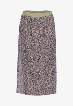 A-line skirt - cream/pink