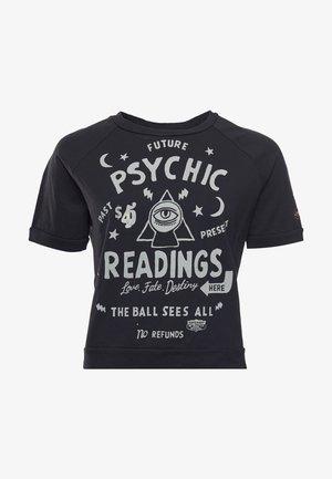 Print T-shirt - washed black