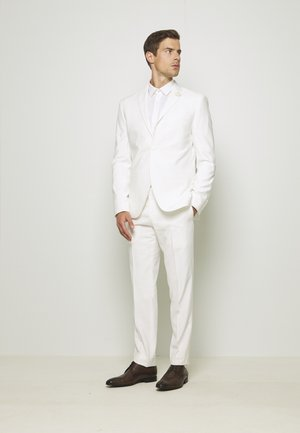 WHITE WEDDING SLIM FIT SUIT - Completo - white