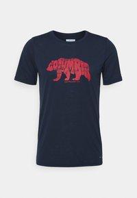 Columbia - TERRA VALE™ TEE - Print T-shirt - collegiate navy - 0